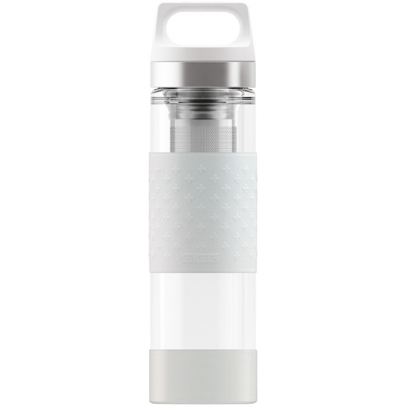 Bouteille infuseur Hot&Cold Glass blanc 0,4 L
