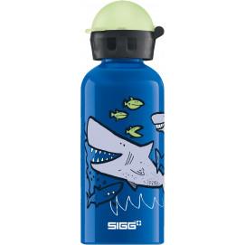 Bouteille enfants Requins avec bouchon phosphorescent 0,4 L
