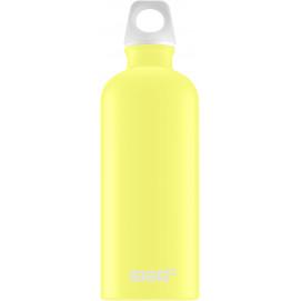 Bouteille Traveller jaune citron 0,6 L - édition limitée Lucid motif jaune citron